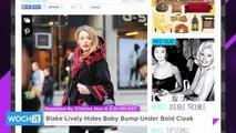 Blake Lively Hides Baby Bump Under Bold Cloak