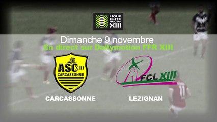 Carcassonne contre Lézignan en direct Dimanche 9 novembre 2014 à 15h50