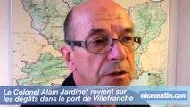 Intempéries: dégâts dans le port de Villefranche