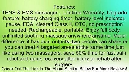 healthmateforever massager fda cleared lifetime warranty pain relief system massager device 6 modes 8pcs pads full body massager heathmate forever bm6m blue