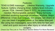 HealthmateForever Massager, FDA cleared lifetime warranty, pain relief system massager device, 6 modes 8pcs pads, full body massager. Heathmate Forever BM6M blue