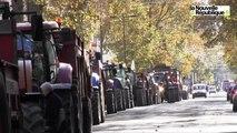 VIDEO. Tours : les tracteurs de la colère en centre-ville de Tours