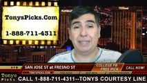 Fresno St Bulldogs vs. San Jose St Spartans Free Pick Prediction NCAA College Football Odds Preview 11-8-2014