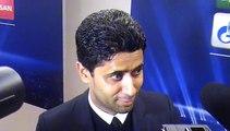Réaction de Nasser Al Khelaifi en zone mixte après PSG-Nicosie (1-0)