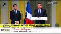 Manuel Valls provoque François Hollande chez François Bayrou