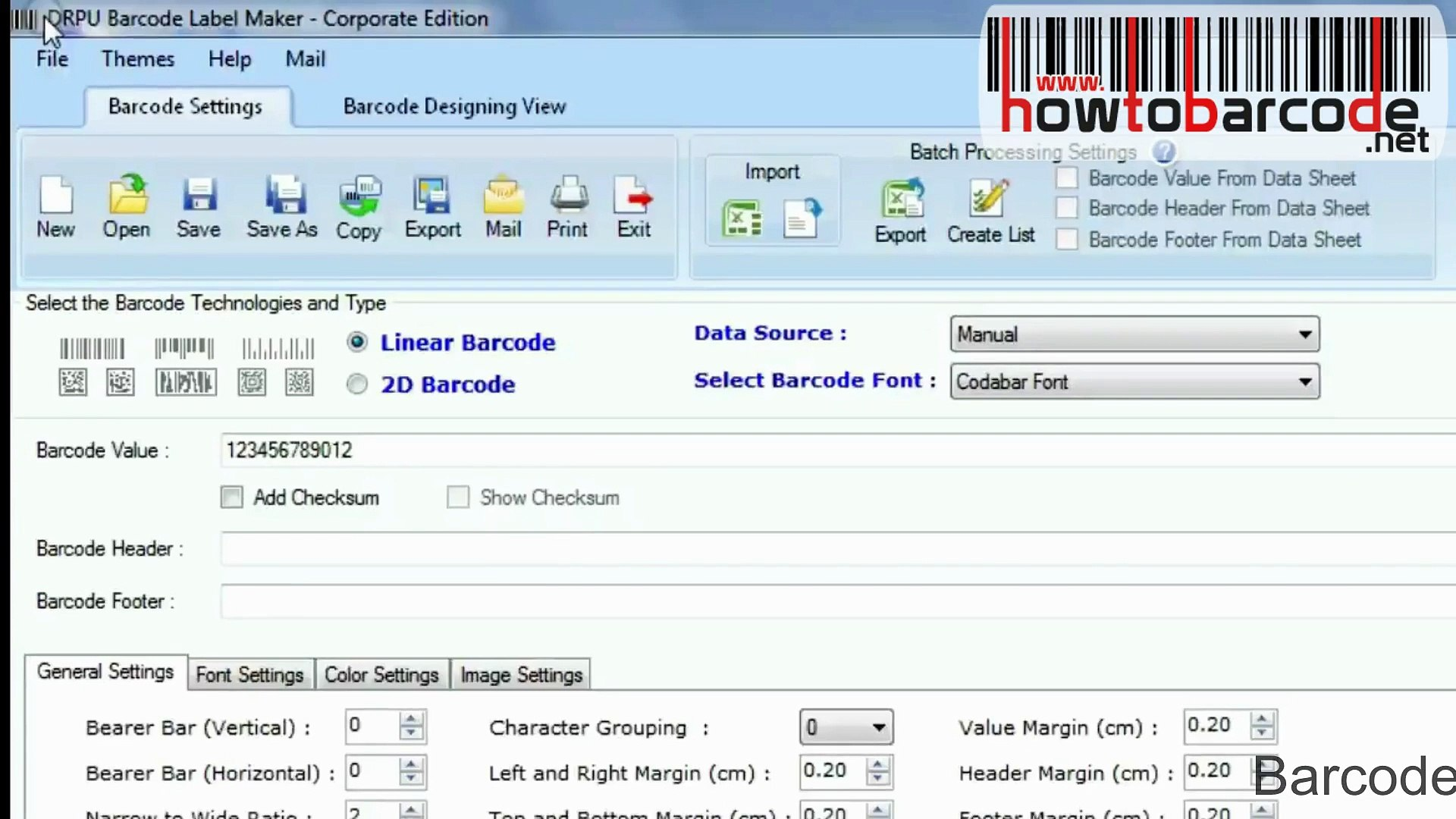 Barcode Label Maker Software: Code 93 text font designing