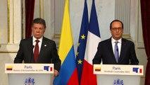 Déclaration conjointe à la presse avec M. Juan Manuel Santos, président de la République de Colombie