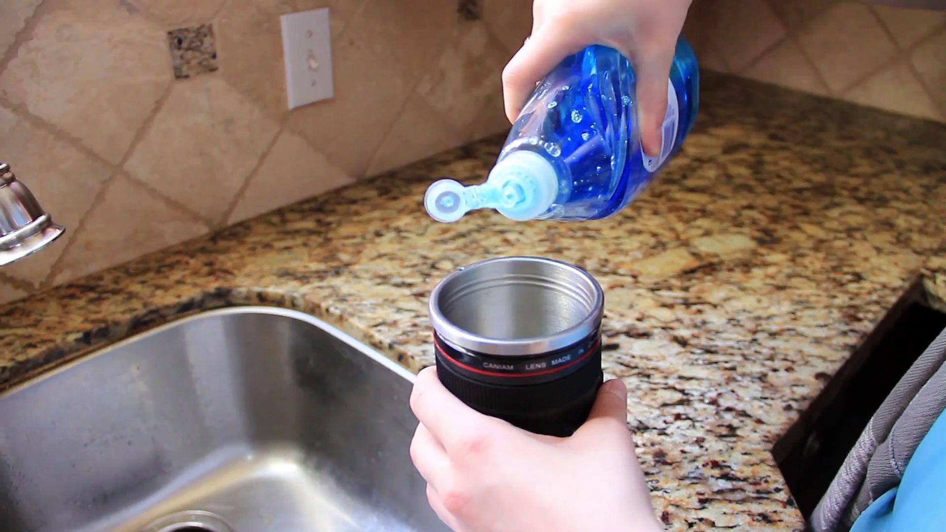 How To Clean Your Self Stirring Camera Lens Coffee Mug