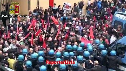 Scontri a Bagnoli contro Sblocca Italia, 17 feriti tra forze ordine
