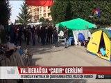 Validebağ'da 5 metrelik çadır kurmak isteyen eylemcilere polisten müdahale