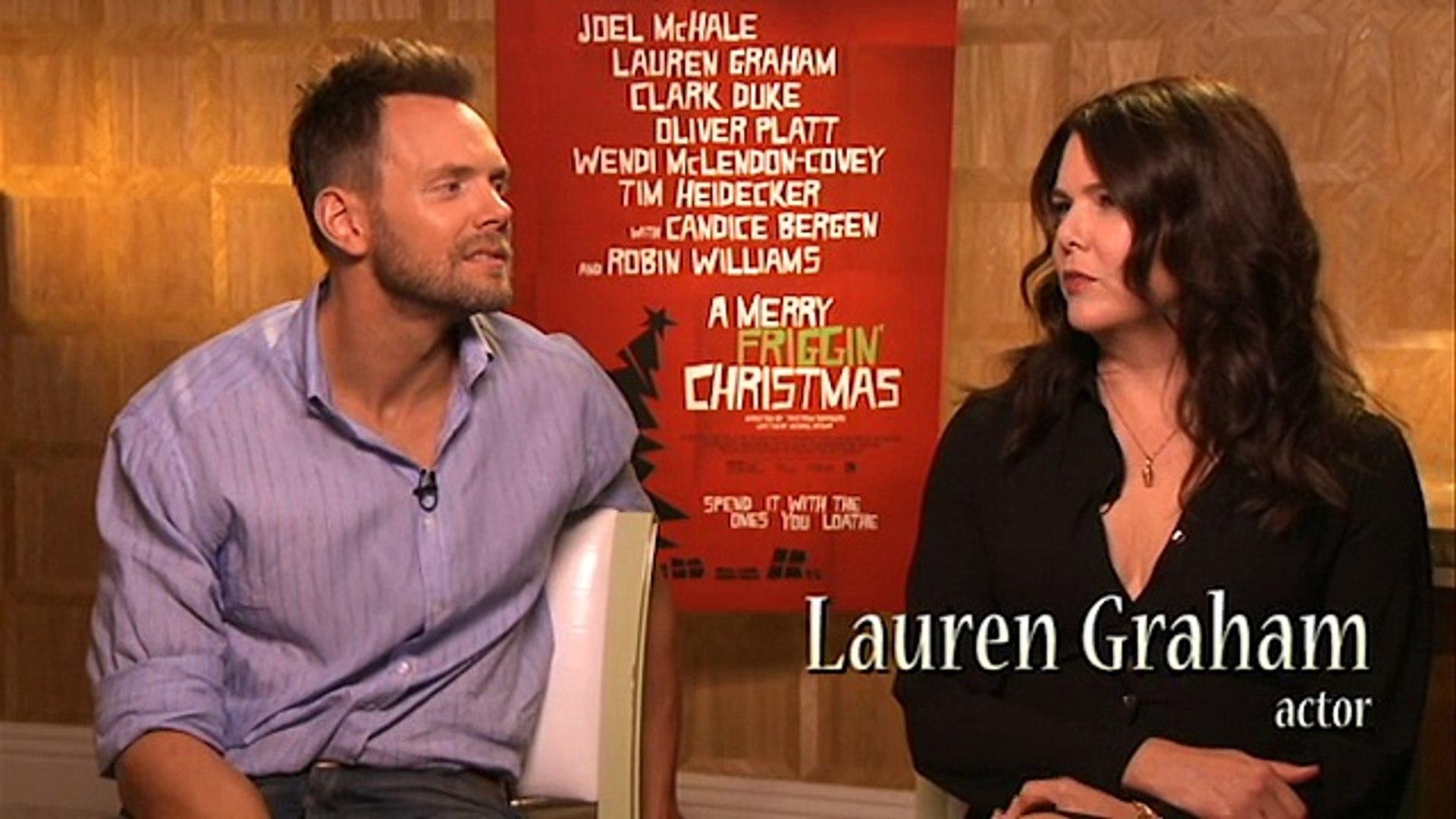 A Merry Friggin Christmas Trailer.Interview Joel Mchale And Lauren Graham