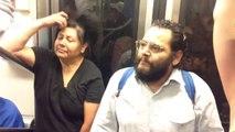 Pablo Lopez chante dans le métro à Mexico