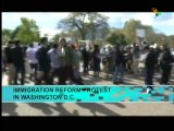 Immigration reform protest in Washington DC