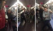 Grosse bagarre dans le métro NYC