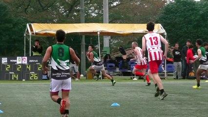 20141108 POWERS vs GOANNAS Q2 専修パワーズ対東京ゴアナーズ - AFL Japan Top League