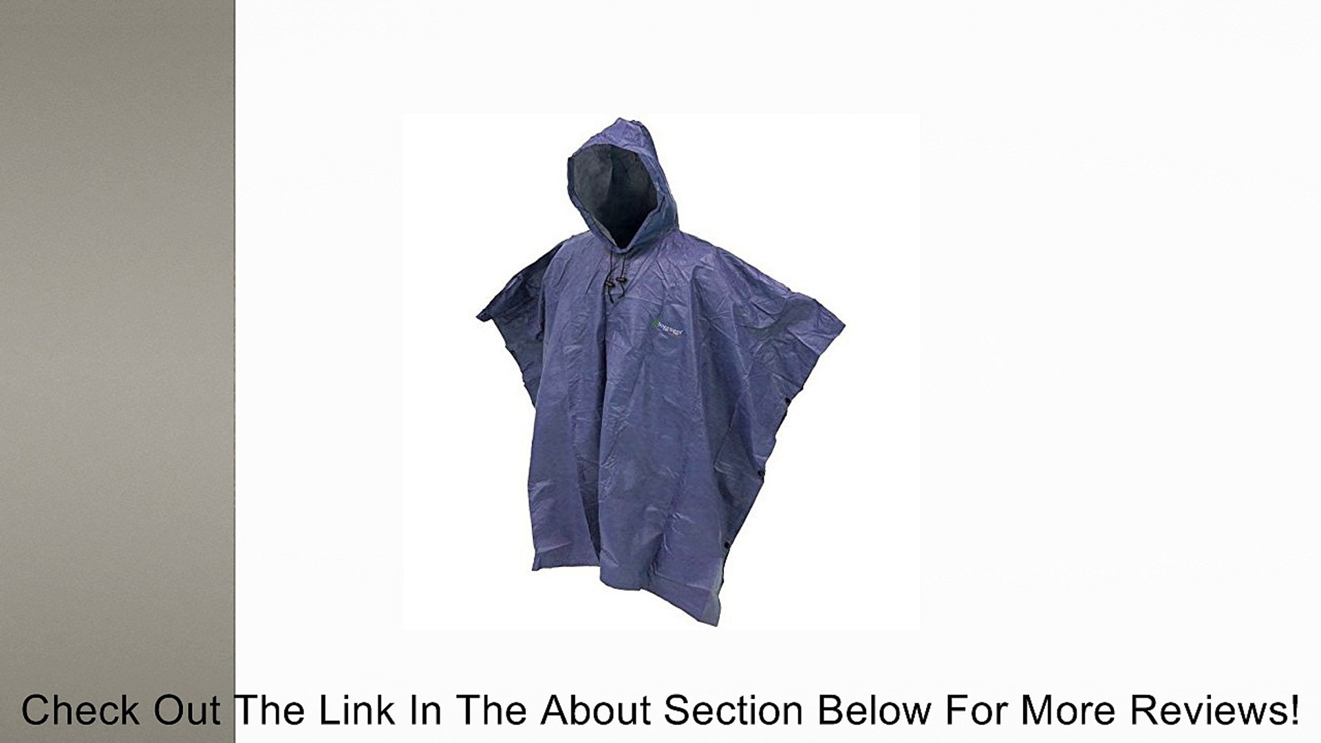 Frogg Toggs Action Poncho, Blue Review