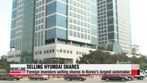 Foreign ownership of Korea's Hyundai Motor falls to four-month low