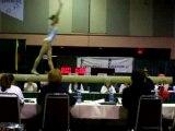 gymnastique : chute à la poutre