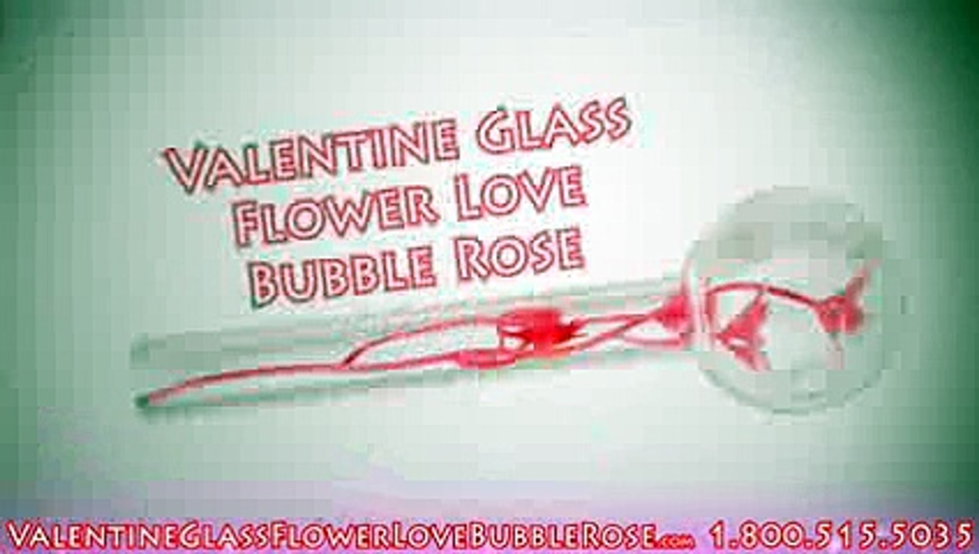 Valentine Rose Glass Pipe - Efficient Straight Shooter Valentine Rose Pipe with faux Rose Inside! 1.