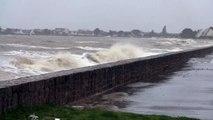 Grande marée d'automne à Damgan. Morbihan.