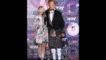 David Hasselhoff dons traditional tartan kilt, sporran and stockings to MTV Europe Music Awards