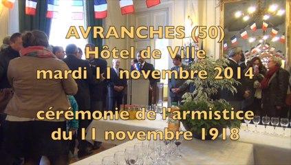 cérémonie du 11 novembre 1918 - 2014 à Avranches - les discours