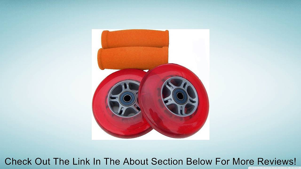 RED Replacement Razor Scooter WHEELS, BEARINGS, GRIPS Review