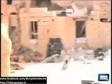 Syrian boy saving a girl amid heavy firing