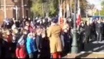 11 novembre : Les écoliers d'Eppeville chantent la Marseillaise