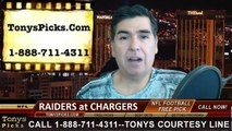 San Diego Chargers vs. Oakland Raiders Free Pick Prediction NFL Pro Football Odds Preview 11-16-2014