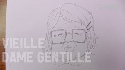 Manga : Dessiner une vieille dame gentille