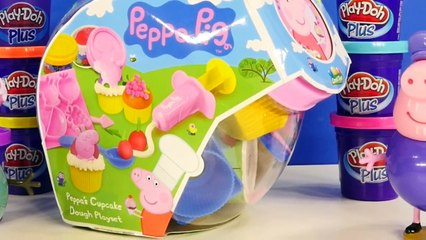 Play Doh Peppa Pig Cupcake Dough Playset Toys Playdough Cake Desert Juguetes de Plastilina