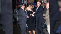 Jennifer Lawrence's Security Team Whisk Her Off After Crowd Surge At Letterman