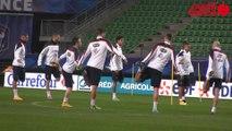 France - Albanie à Rennes : l'entraînement des Bleus au stade