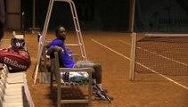 Coupe Davis : Gaël Monfils fait durer l'entraînement !