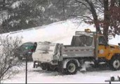 Snow Plow Gets Stuck in the Snow