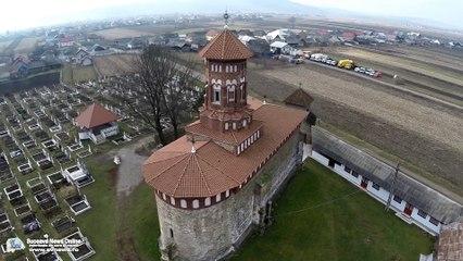 Biserica Albă din Baia (filmare aeriană)