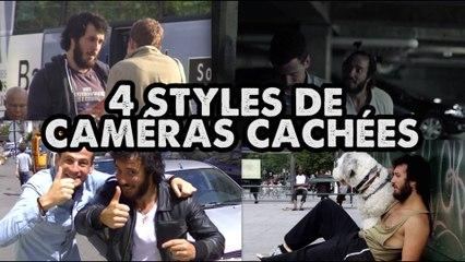 4 STYLES DIFFÉRENTS DE CAMÉRAS CACHÉES