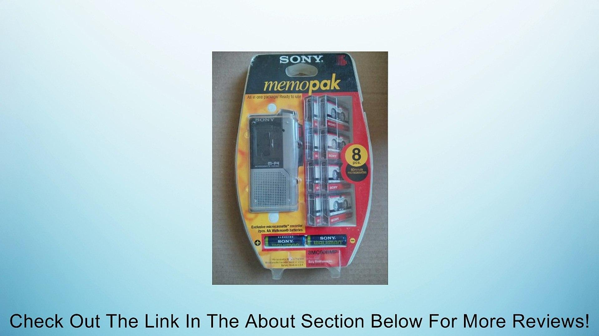 Sony M-P4 Microcassette Corder Recorder