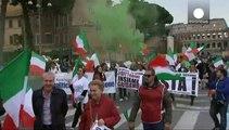 تظاهرات در رُم، عليه شهردار و مهاجران خارجی