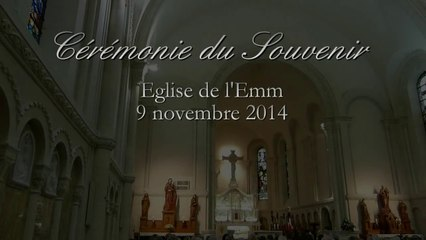 Cérémonie du Souvenir   Eglise de l'Emm (Metzeral-Sondernach), 9 novembre 2014