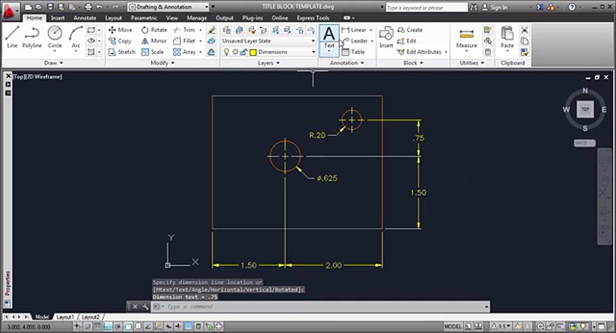 AutoCAD 2013 Dimensioning Tutorial  AutoCAD 2013 Dimension  AutoCAD 2013 Dimension Style