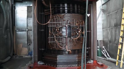 Lifting bell tank of large transformer
