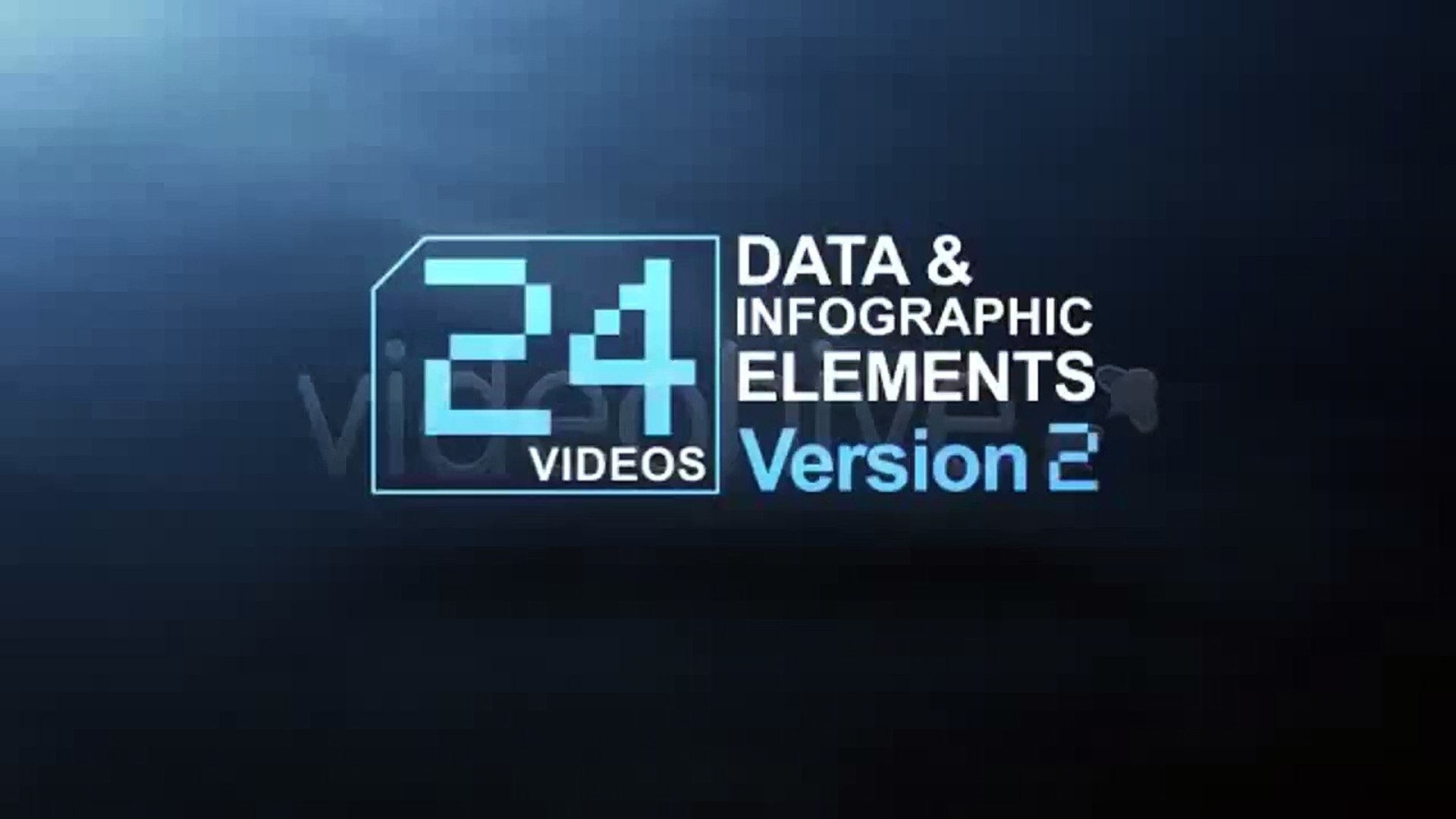 24 Videos Data & Infographic Elements V.2 | Motion Graphics | Files - Videohive