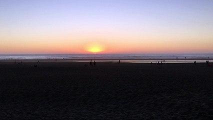 Coucher de soleil à Ocean Beach