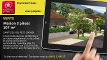 A vendre - maison - SAINT GELY DU FESC (34980) - 3 pièces - 107m²