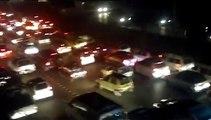 Views of traffic jam near Islamabad Express way Khanna Pul to AirPort Chowk