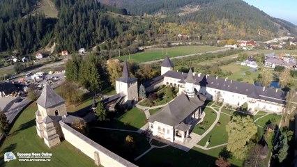 Mănăstirea Suceviţa (filmare aeriană)