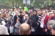 Idir - Brahim SACI et la famille AZEM - Inauguration de la place Slimane Azem à Paris