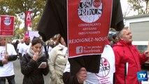 Manifestation des artisans et des commerçants contre le RSI à Carcassonne